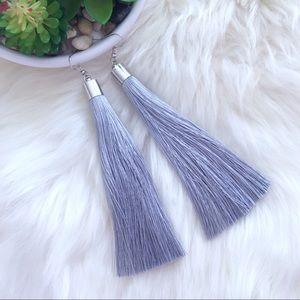 Jewelry - Boho tassel long drop earrings